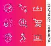 premium set with outline vector ... | Shutterstock .eps vector #1081019258