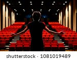 young actor in a theater. | Shutterstock . vector #1081019489