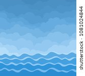 sea with clouds. | Shutterstock .eps vector #1081024844