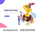 success concept banner. can use ... | Shutterstock .eps vector #1081030508