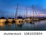 old jaffa port boats view... | Shutterstock . vector #1081035854