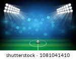 football arena field with... | Shutterstock .eps vector #1081041410