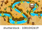 ancient egypt and pyramid  game ... | Shutterstock .eps vector #1081042619