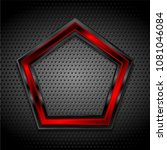 black and red pentagon shape on ...   Shutterstock .eps vector #1081046084