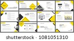 yellow element for slide... | Shutterstock .eps vector #1081051310