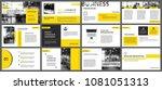 yellow element for slide... | Shutterstock .eps vector #1081051313