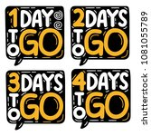 1 2 3 4 days to go. set of hand ...   Shutterstock .eps vector #1081055789