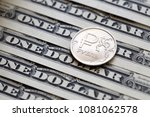 russian ruble coin on one... | Shutterstock . vector #1081062578