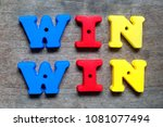 color alphabet in word win win... | Shutterstock . vector #1081077494