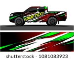 truck and car graphic vector.... | Shutterstock .eps vector #1081083923