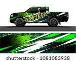 truck and car graphic vector.... | Shutterstock .eps vector #1081083938