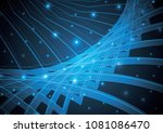 technology abstract stripe... | Shutterstock .eps vector #1081086470