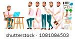 office worker vector. face... | Shutterstock .eps vector #1081086503