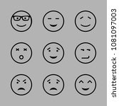 icons emoticons with smiling... | Shutterstock .eps vector #1081097003