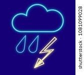 weather. cloud  rain and... | Shutterstock .eps vector #1081099028