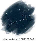 night sky digital background... | Shutterstock . vector #1081102343
