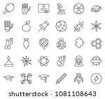 thin line icon set   robot hand ... | Shutterstock .eps vector #1081108643
