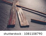 rattan school cane and leather... | Shutterstock . vector #1081108790