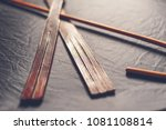 rattan school cane and leather... | Shutterstock . vector #1081108814