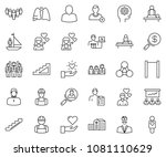 thin line icon set   search... | Shutterstock .eps vector #1081110629