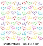 background of hearts | Shutterstock . vector #1081116404