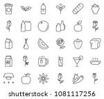 thin line icon set  ... | Shutterstock .eps vector #1081117256