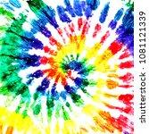 tie dye pattern. hand drawn... | Shutterstock . vector #1081121339