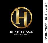 luxury letter h logo template... | Shutterstock .eps vector #1081127600
