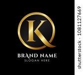 luxury letter k logo template... | Shutterstock .eps vector #1081127669