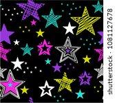 seamless pattern for girls.... | Shutterstock .eps vector #1081127678