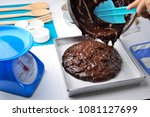 making chocolate cake or... | Shutterstock . vector #1081127699