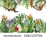 tropical illustration with... | Shutterstock .eps vector #1081129706