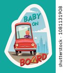 baby on board stickers | Shutterstock .eps vector #1081131908