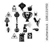 poison danger toxic icons set.... | Shutterstock .eps vector #1081131950