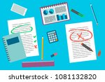 office and business supplies... | Shutterstock .eps vector #1081132820