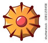delicious cookie icon. cartoon... | Shutterstock .eps vector #1081155458