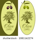 set of labels for olive oils.... | Shutterstock .eps vector #1081162274