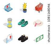 femme fatale icons set.... | Shutterstock .eps vector #1081168046