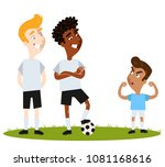 self confident short south... | Shutterstock .eps vector #1081168616
