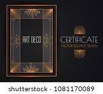 elegant vintage card  flyer ... | Shutterstock .eps vector #1081170089