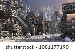 3d illustration of a futuristic ... | Shutterstock . vector #1081177190