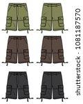 shorts vector design | Shutterstock .eps vector #1081187570