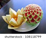 Watermelon And Melon Carving On ...
