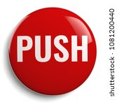 push button isolated 3d red... | Shutterstock . vector #1081200440