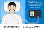 cpap therapy medical | Shutterstock .eps vector #1081208954