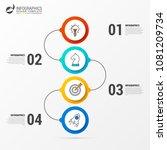 infographic design template.... | Shutterstock .eps vector #1081209734