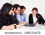 group of multiracial business... | Shutterstock . vector #108121670