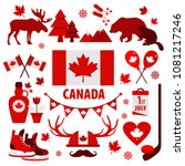 canada sign and symbol  info... | Shutterstock .eps vector #1081217246