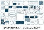 doodles set. scribble... | Shutterstock .eps vector #1081225694