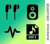 vector icon set about music... | Shutterstock .eps vector #1081228538